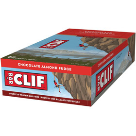 CLIF Bar Confezione di barrette energetiche 12 x 68g, Chocolate Almond Fudge